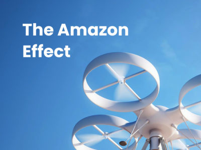 amazon drone in air