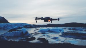drone hovering